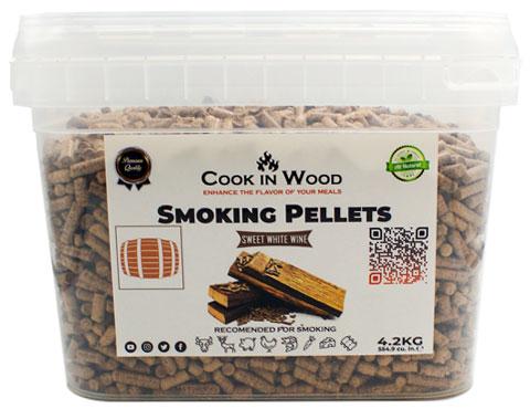 COOKINWOOD 4.2KG SWEET WHITE WINE SMOKING PELLETS