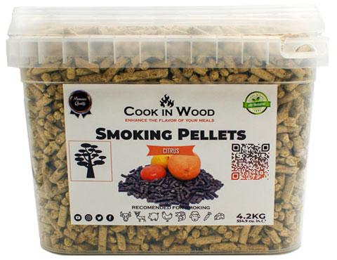 COOKINWOOD 4.2KG CITRUS SMOKING PELLETS