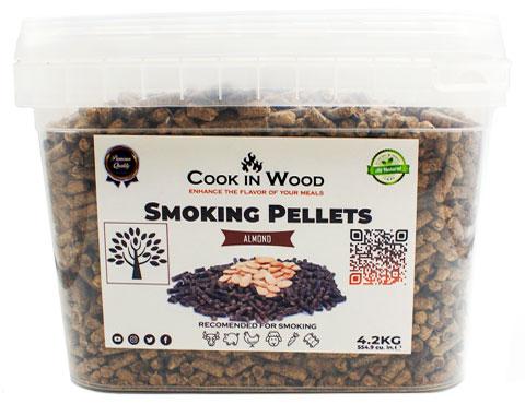 COOKINWOOD 4.2KG ALMONDS SMOKING PELLETS