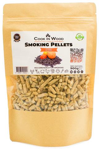 COOKINWOOD 900GR CITRUS SMOKING PELLETS