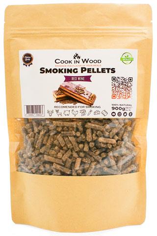 COOKINWOOD 900GR RED WINE SMOKING PELLETS