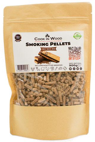 COOKINWOOD 900GR WHITE WINE SMOKING PELLETS