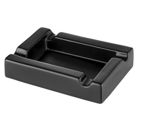 Cigar Ashtray Ceramic Black matt 4 slots 23,5x15,5x5,3 cm