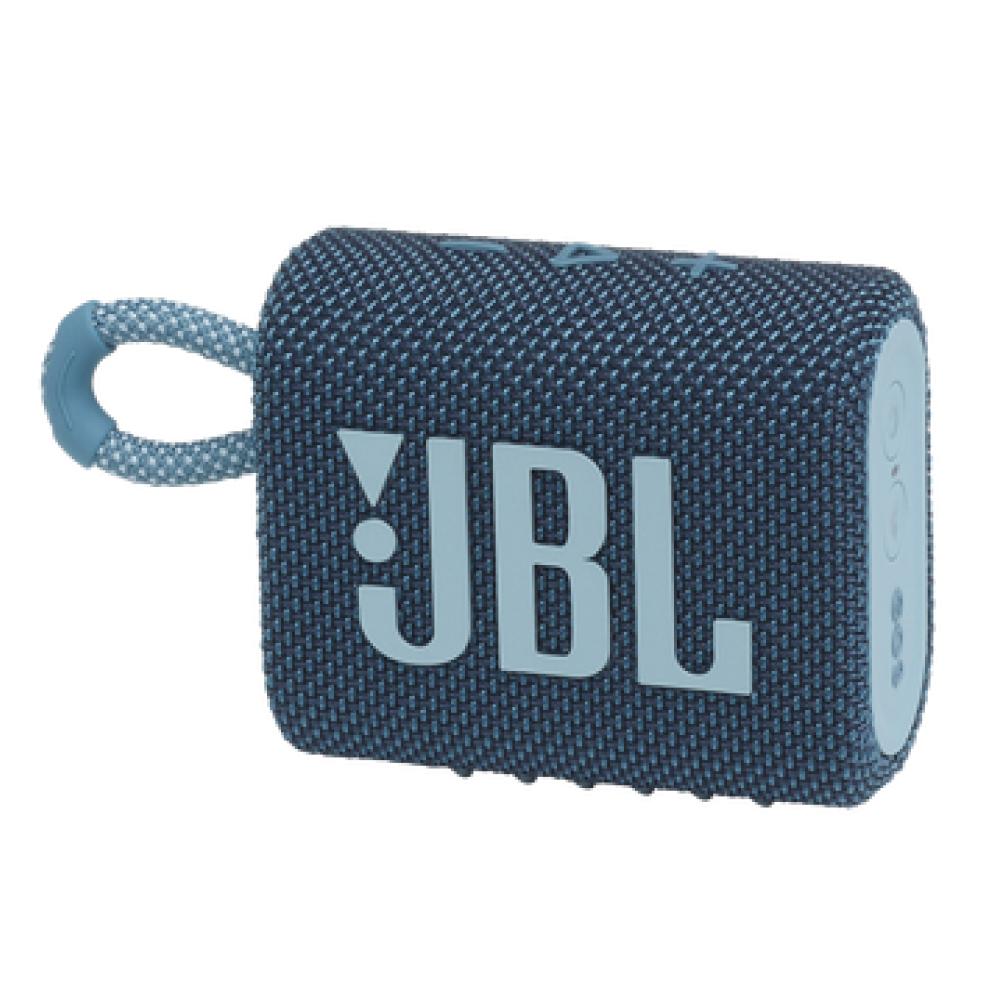 JBL GO 3 Wireless Bluetooth Waterproof Speaker, Blue