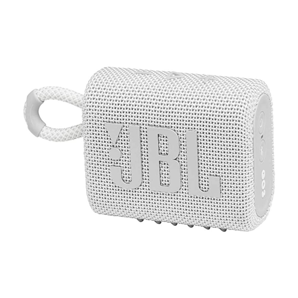 JBL GO 3 Wireless Bluetooth Waterproof Speaker, White