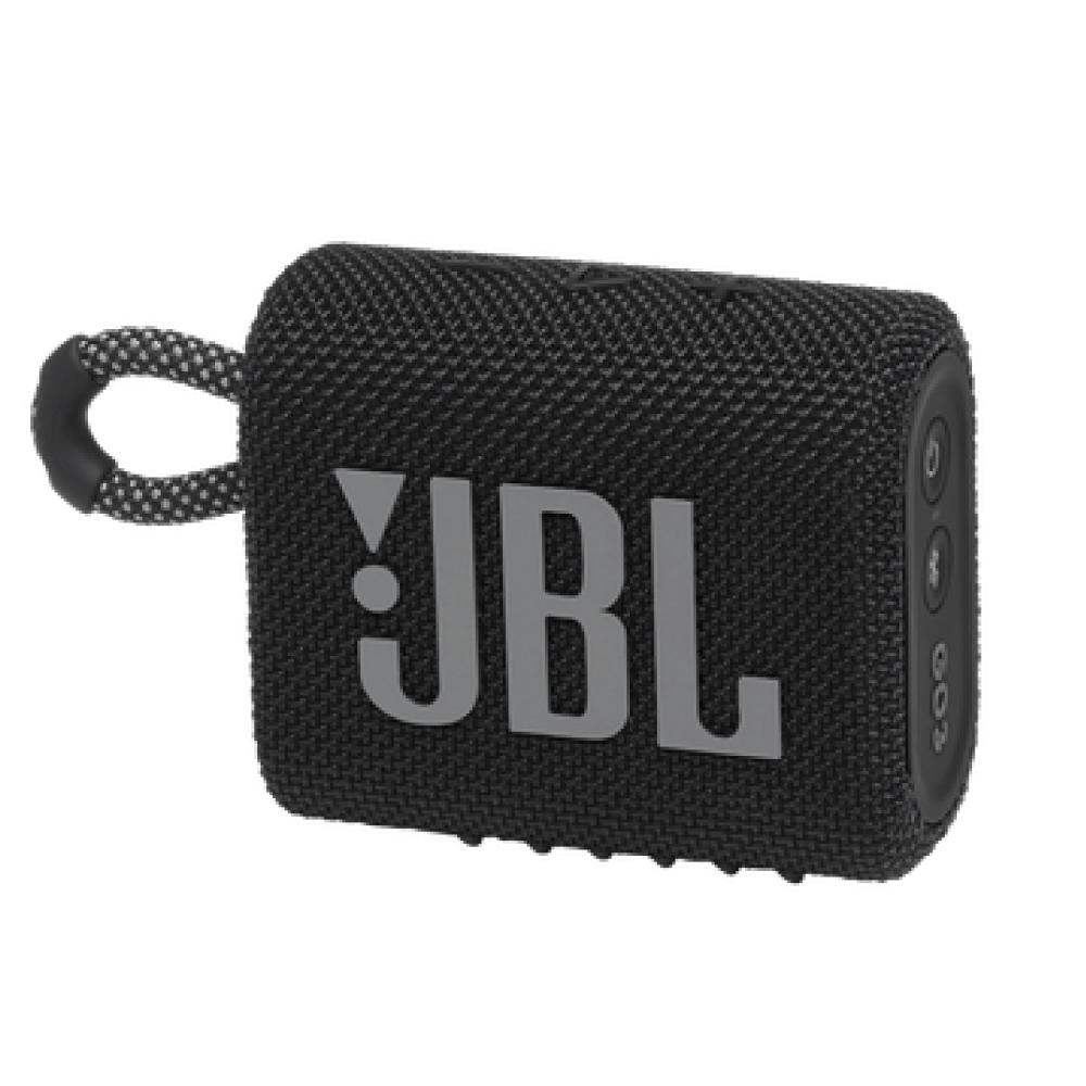 JBL GO 3 Wireless Bluetooth Waterproof Speaker, Black