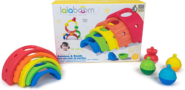 Lalaboom Rainbow & Beads - 13 pcs
