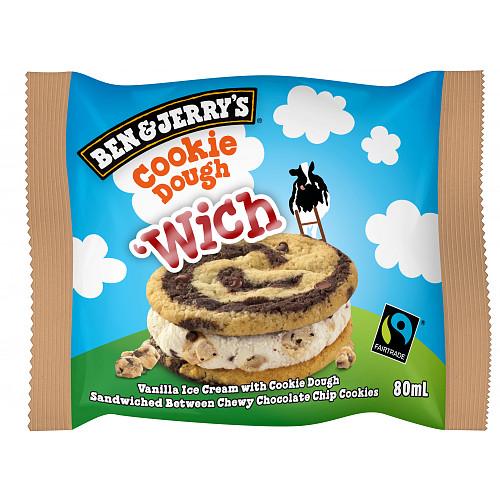 BEN & JERRY'S - COOKIE Dough Sandwich