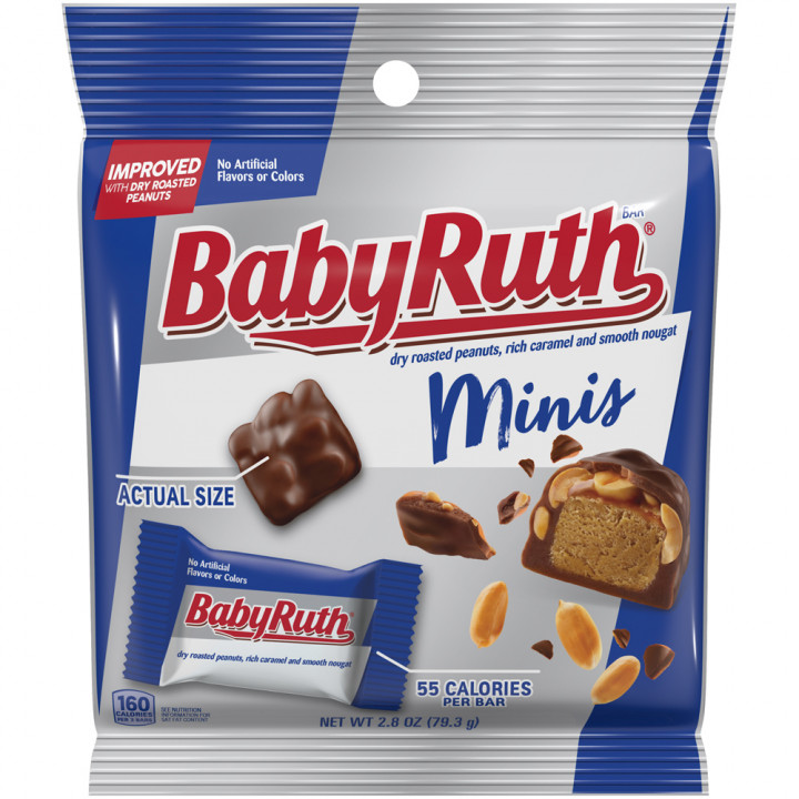 Baby Ruth Minis Peg Bag 2.80oz 79.3g