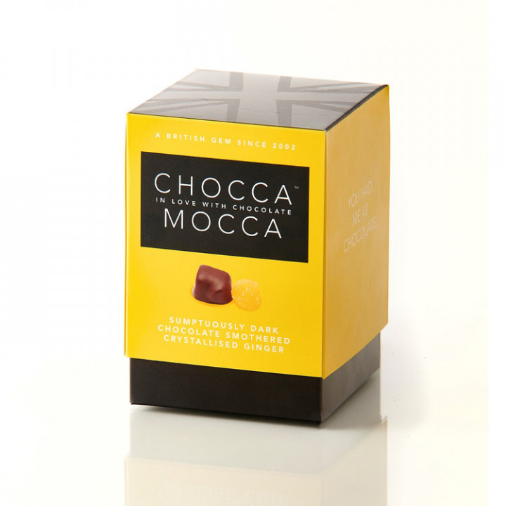 CHOCCA MOCCA - DARK CHOCOLATE WITH GINGER 100G