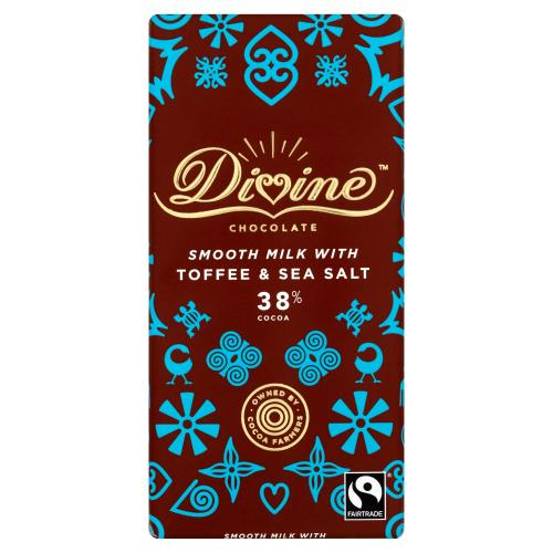 DIVINE - SMOOTH MILK WITH TOFFEE & SEA SALT 38% COCOA 90G