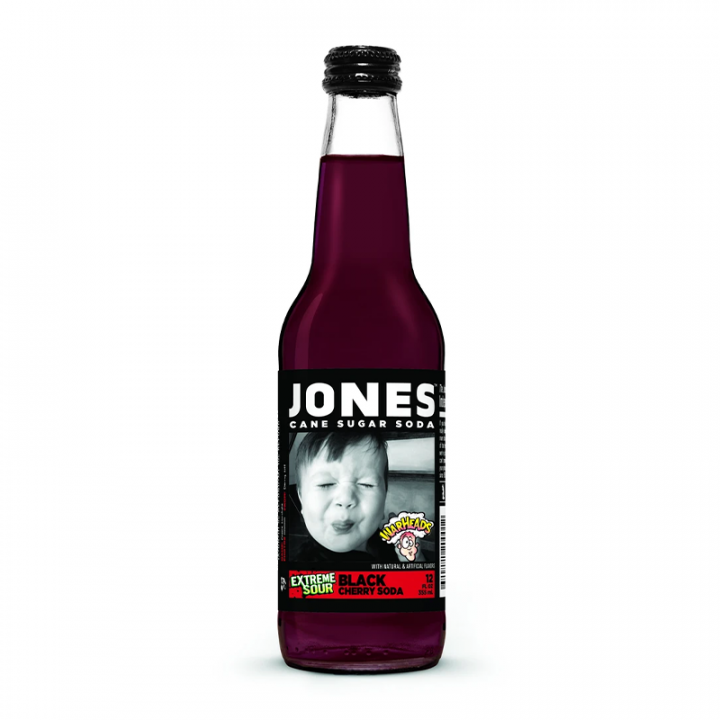 JONES CANE SUGAR SODA - BLACK CHERRY 355ML