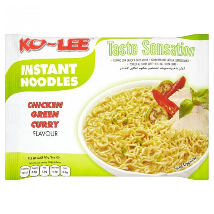 KO-LEE INSTANT NOODLES - CHICKEN GREEN CURRY 85G
