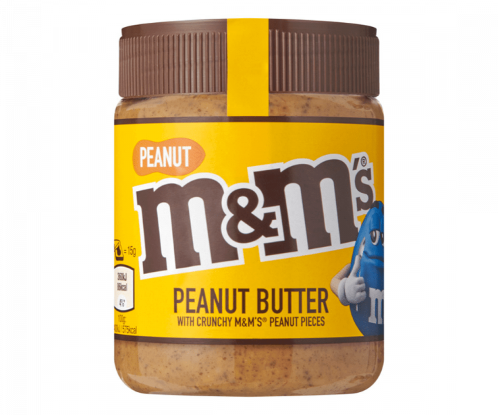 M&MS - PEANUT BUTTER WITH CRUNCHY PIECES