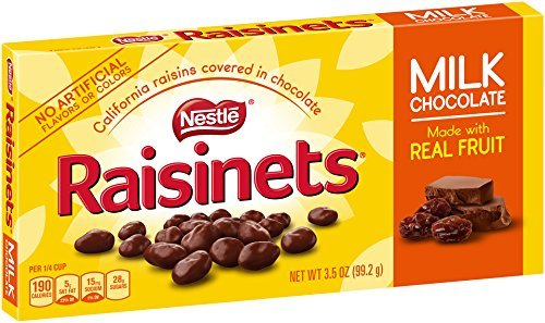 RAISINETS - MILK CHOCOLATE WITH WHOLE FRUIT 99G