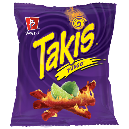 TAKIS FUEGO TORTILLA CHIPS HOT CHILI /LIME 113.4G