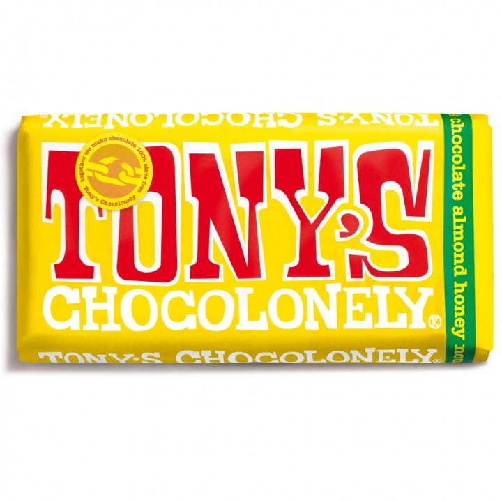 TONYS CHOCOLONELY ALMOND NONEY NOUGAT 180G