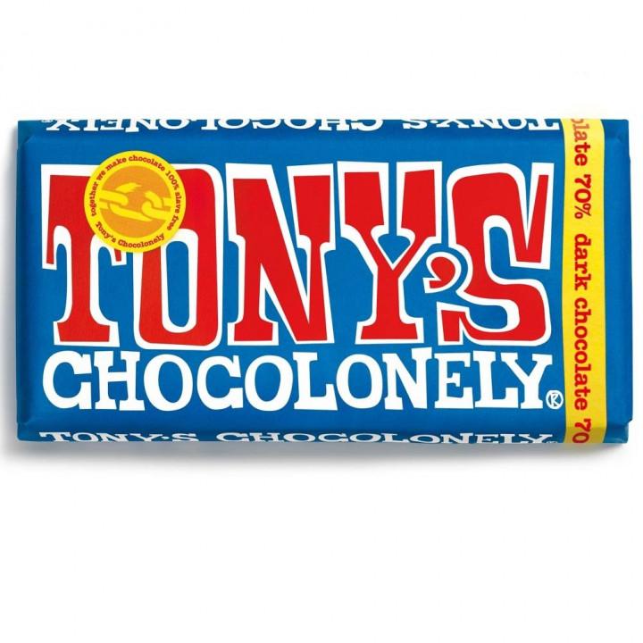 TONYS CHOCOLONELY 70 DARK CHOCOLATE 180G