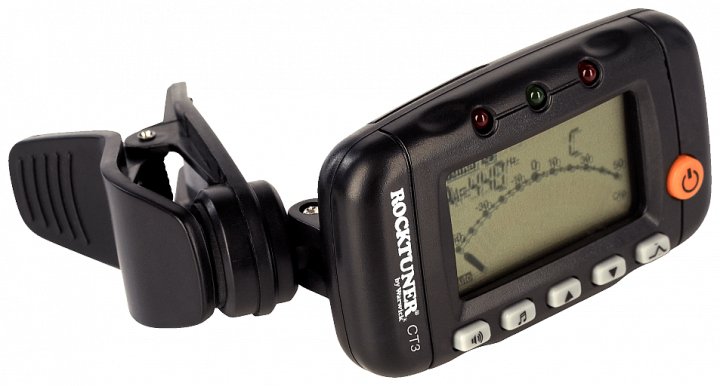 ROCKTUNER CHROMATIC CLIP-ON TUNER WITH METRONOME