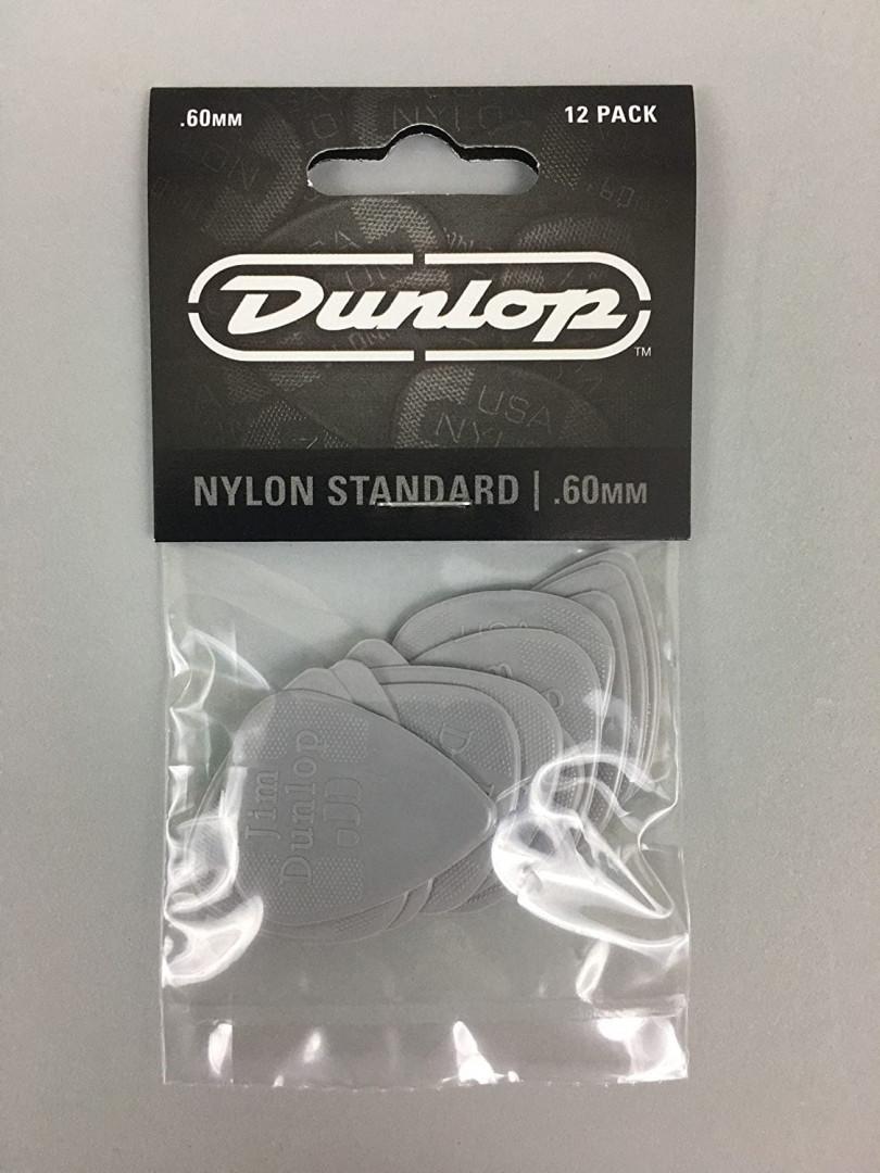 DUNLOP NYLON STANDARD GUITAR PICKS 12PCS