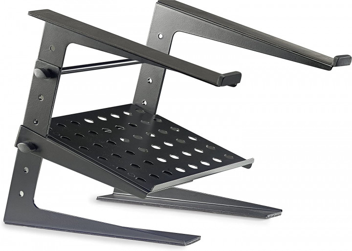 STAGG PROFESSIONAL DJ LAPTOP STAND WITH LOWER SUPPORT SHELF