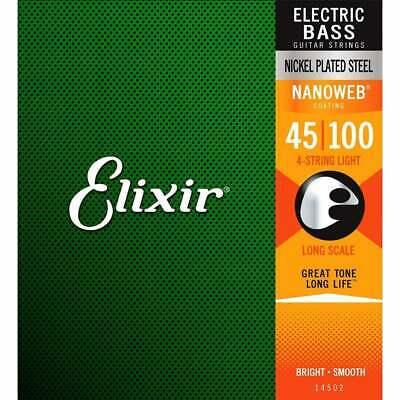 ELIXIR ELECTRIC BASS NANOWEB STRINGS SET 4 45-100