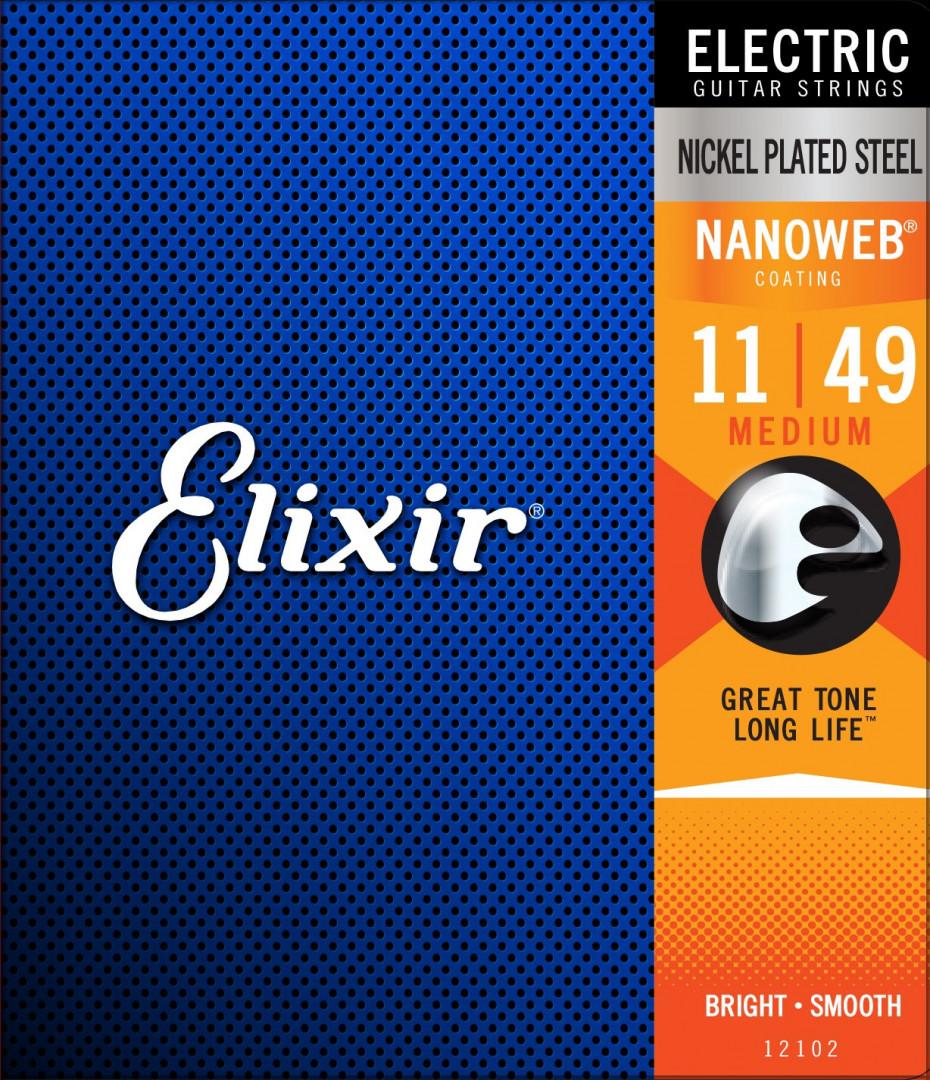ELIXIR NICKEL PLATED STEEL ELECTRIC GUITAR STRINGS MEDIUM 11-49