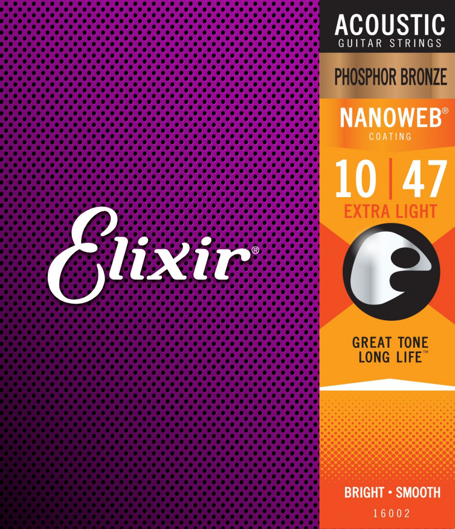 ELIXIR GUITAR ACOUSTIC GUITAR SET 010-047 EXTRA LIGHT