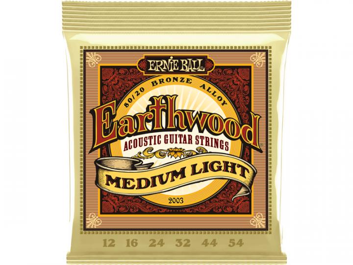 ERNIE BALL EARTHWOOD 80/20 12-54(12) BRONZE ACOUSTIC GUITAR STRINGS MEDIUM LIGHT