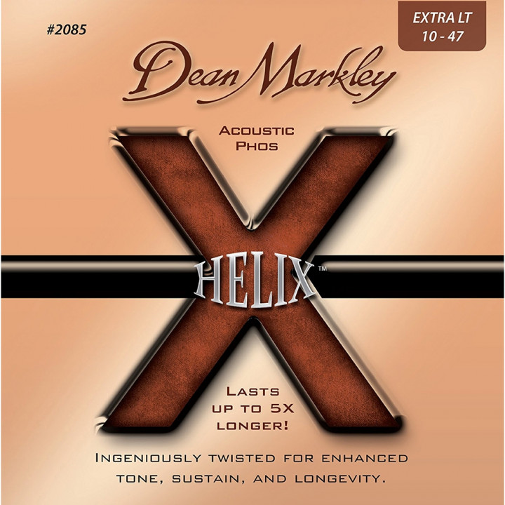 DEAN MARKLEY HELIX - ACCOUSTIC GUITAR STRINGS EXTRA LIGHT 10-47