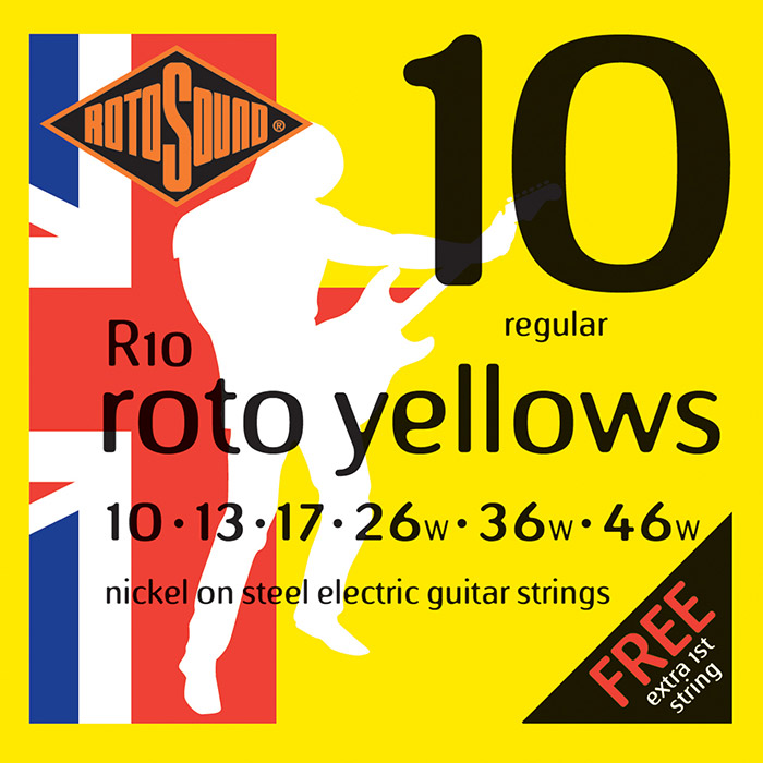 ROTOSOUND NICKEL WOUND ELECTRIC GUITAR STRINGS 010-46