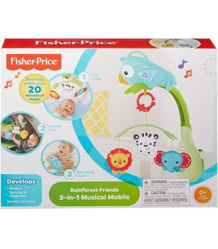 Fisher Price Rainforest 3-In-1 Musical Mobile