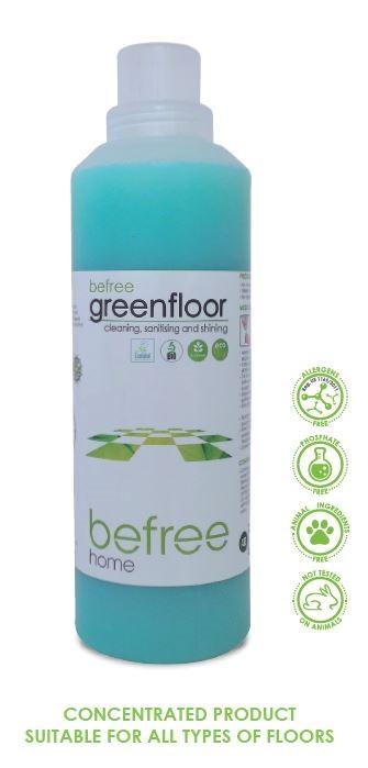 Befree Green Floor - Cleaning, sanitising, shining 1 ltr