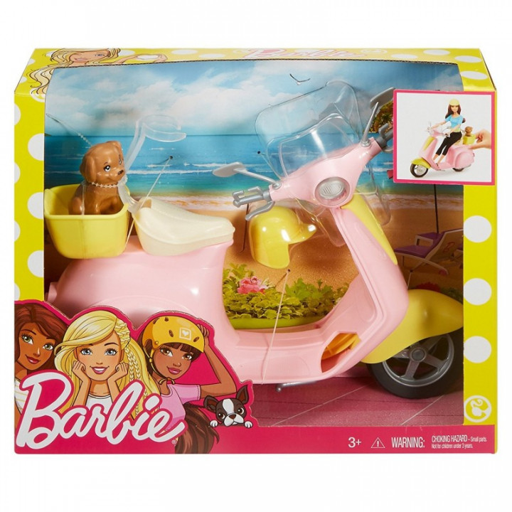 BARBIE SCOOTER WITH PUPPY DOG FIGURE