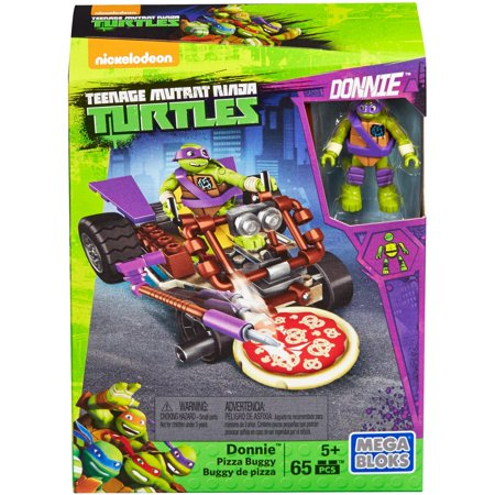 MEGA CONSTRUX TEENAGE MUTANT TURTLES DONNIE PIZZA BUGGY