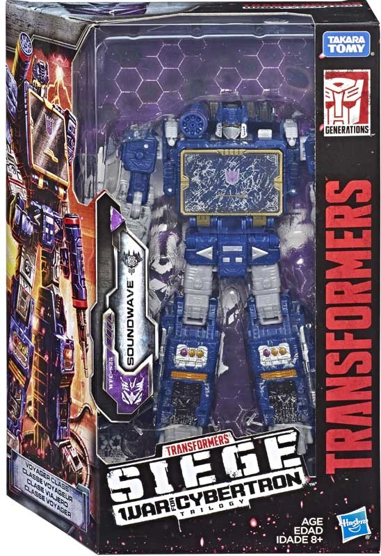 TRANSFORMERS GENERATION WAR FOR CYBERTRON TRILOGY: SIEGE VOYAGER SOUNDWAVE FIGURE