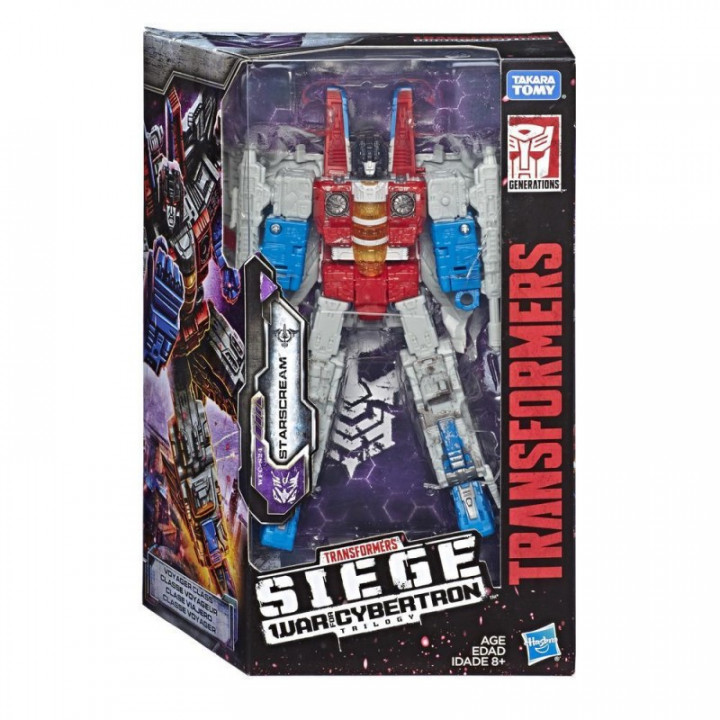 TRANSFORMERS GENERATION WAR FOR CYBERTRON TRILOGY: SIEGE VOYAGER STARSCREAM FIGURE