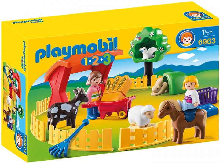 PLAYMOBIL 6963 - PETTING ZOO WITH MANY ANIMALS