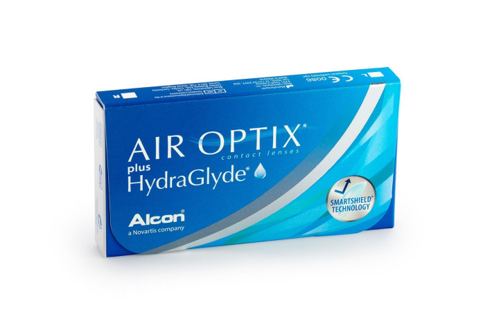 Air Optix Plus Hydraglyde - 3 Monthly Contact Lenses +2