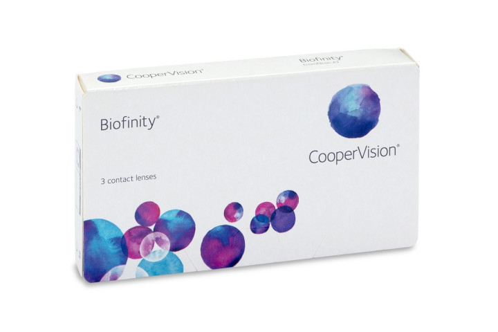 Biofinity - 3 Monthly Contact Lenses -1.25