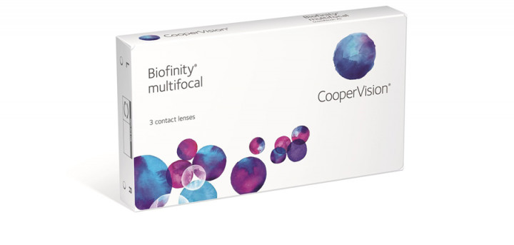 Biofinity Multifocal Add 2.50N - 3 Monthly Contact Lenses -3.25