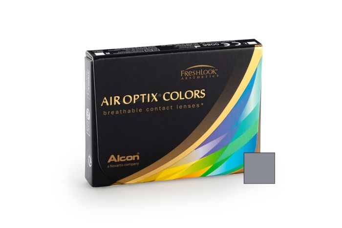 Air Optix Colour Sterling Grey - 2 Monthly Contact Lenses +4.5
