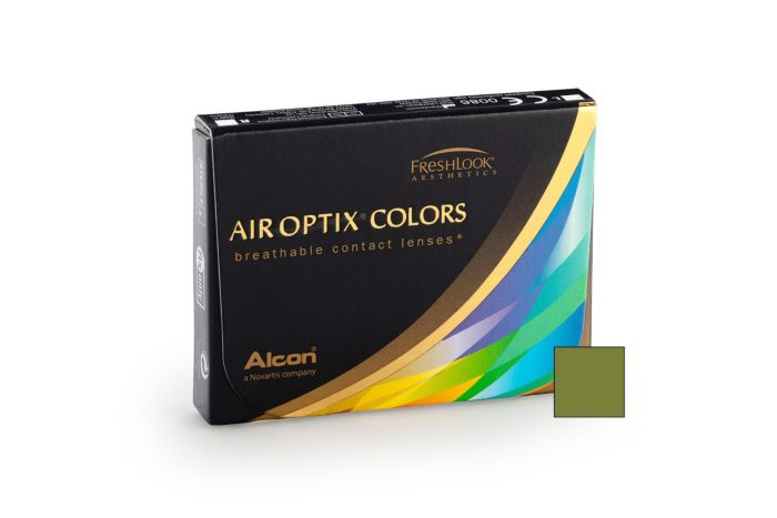 Air Optix Colour Gemstone Green - 2 Monthly Contact Lenses -1