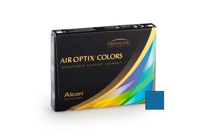 Air Optix Colour Brilliant Blue - 2 Monthly Contact Lenses -6.5