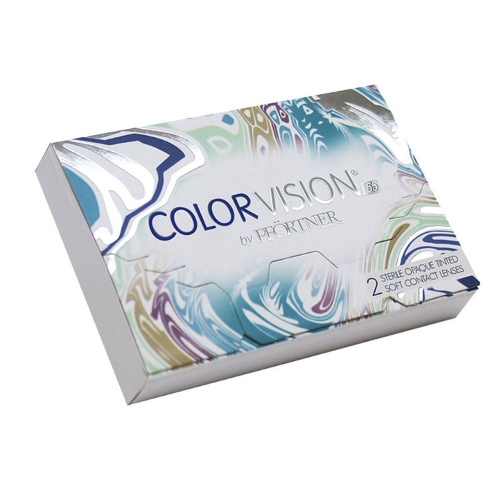 Colourvision Dark Grey - 2 Monthly Contact Lenses +4