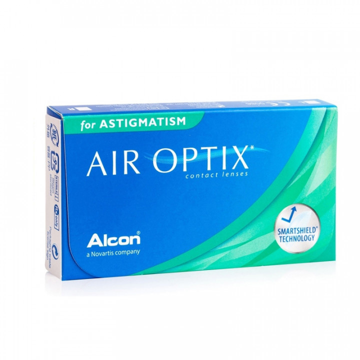 Air Optix Toric for Astigmatism Cyl-0.75 - 3 Monthly Contact Lenses -0.25
