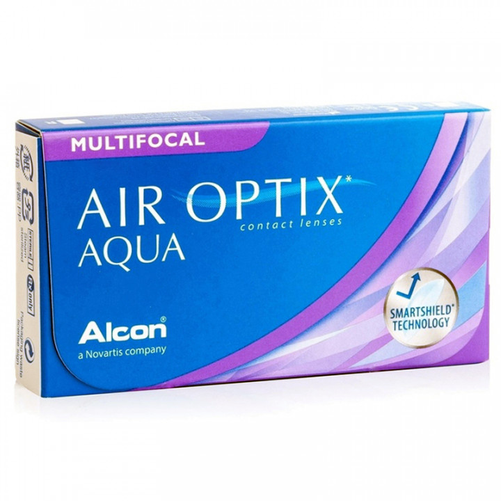 Air Optix Multifocal Hi - 3 Monthly Contact Lenses -6.75