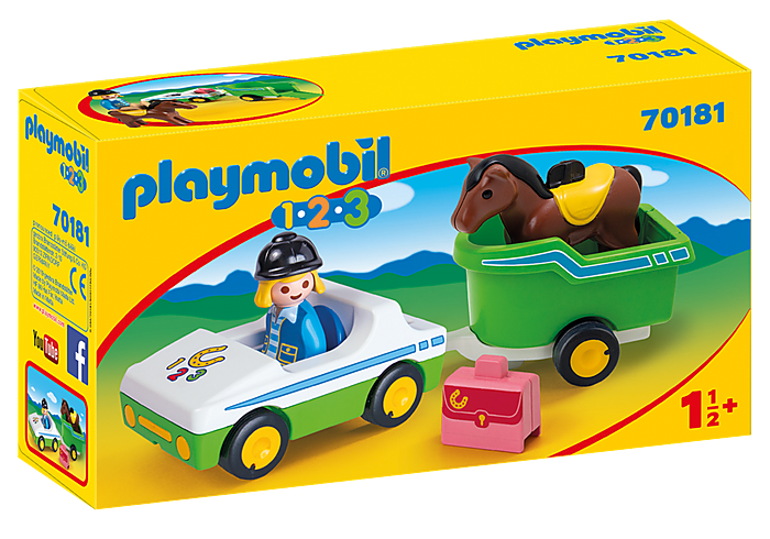 PLAYMOBIL 70181 - CAR WITH HORSE TRAILER