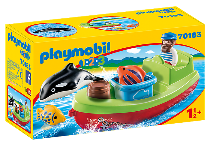 PLAYMOBIL 70183 - FISHERMAN WITH BOAT
