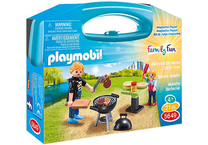 PLAYMOBIL 5649 - BACKYARD BARBECUE CARRY CASE